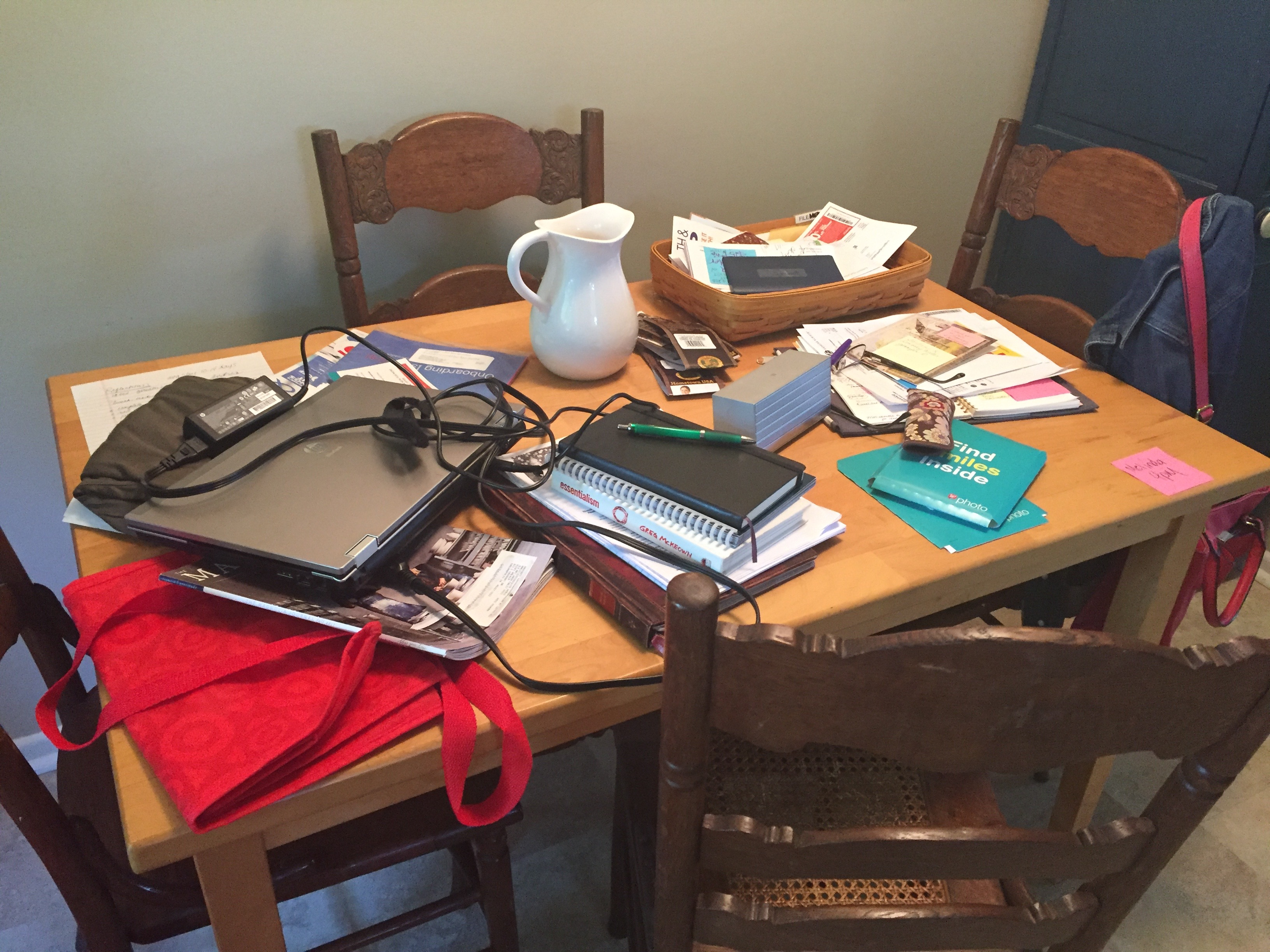 image of cluttered tabletop
