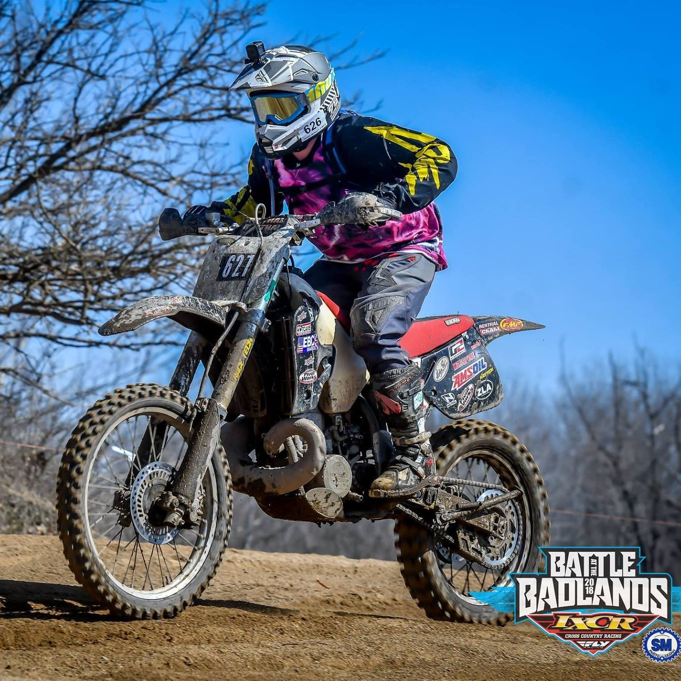 Photo of Daniel racing on a 2-stroke dirtbike