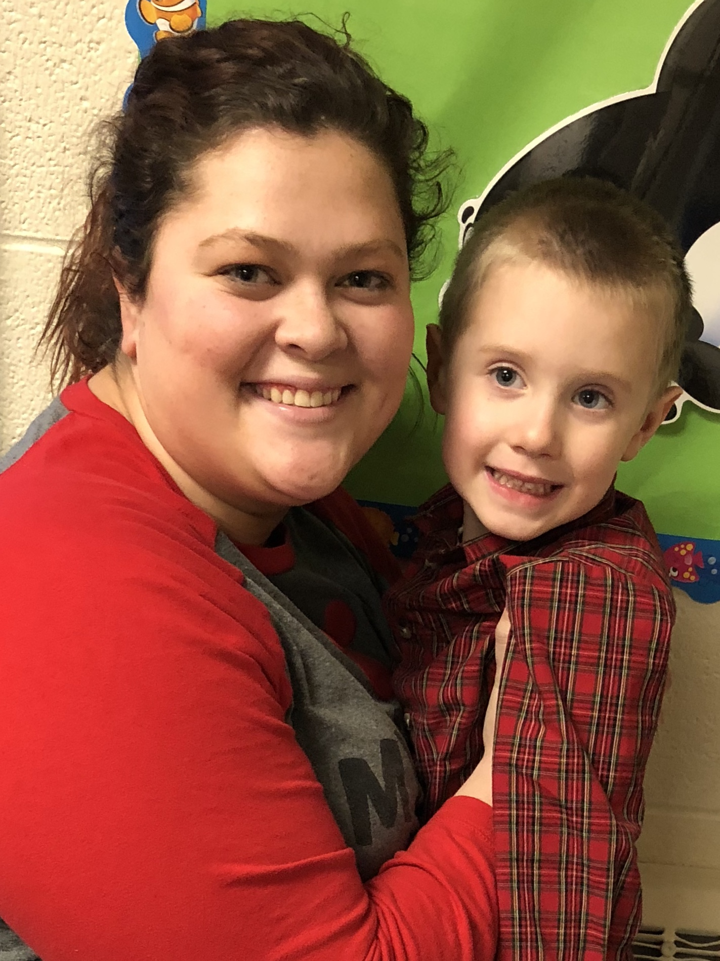 Preschool teacher Miss Kaylan with 5-year old grandson Rhett