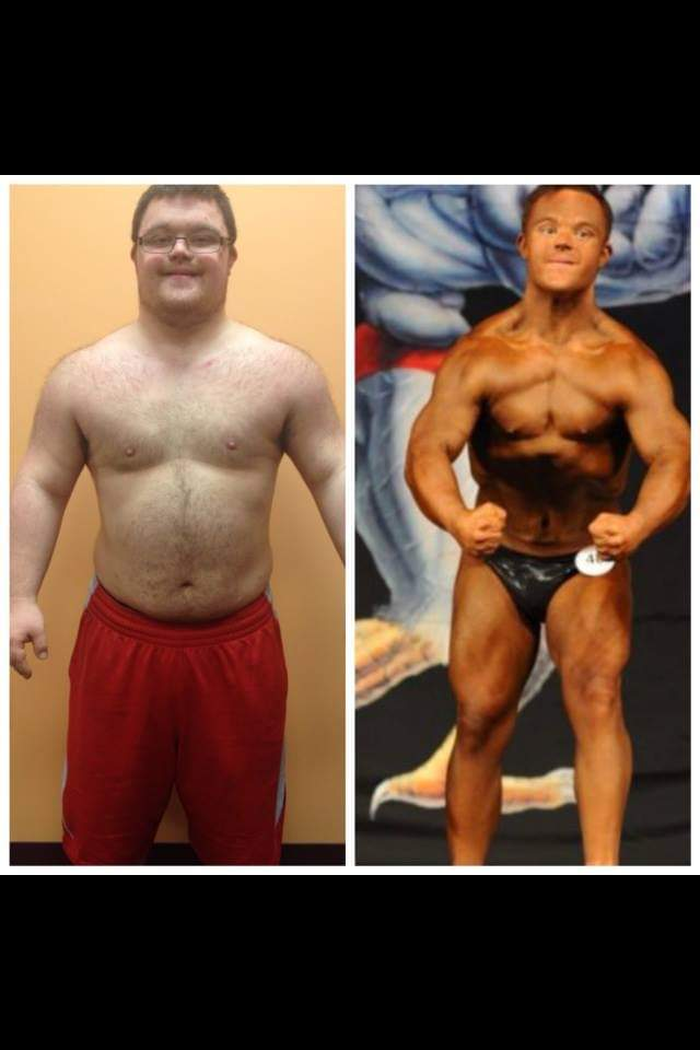 Collin Before and After Bodybuilding in 2015.