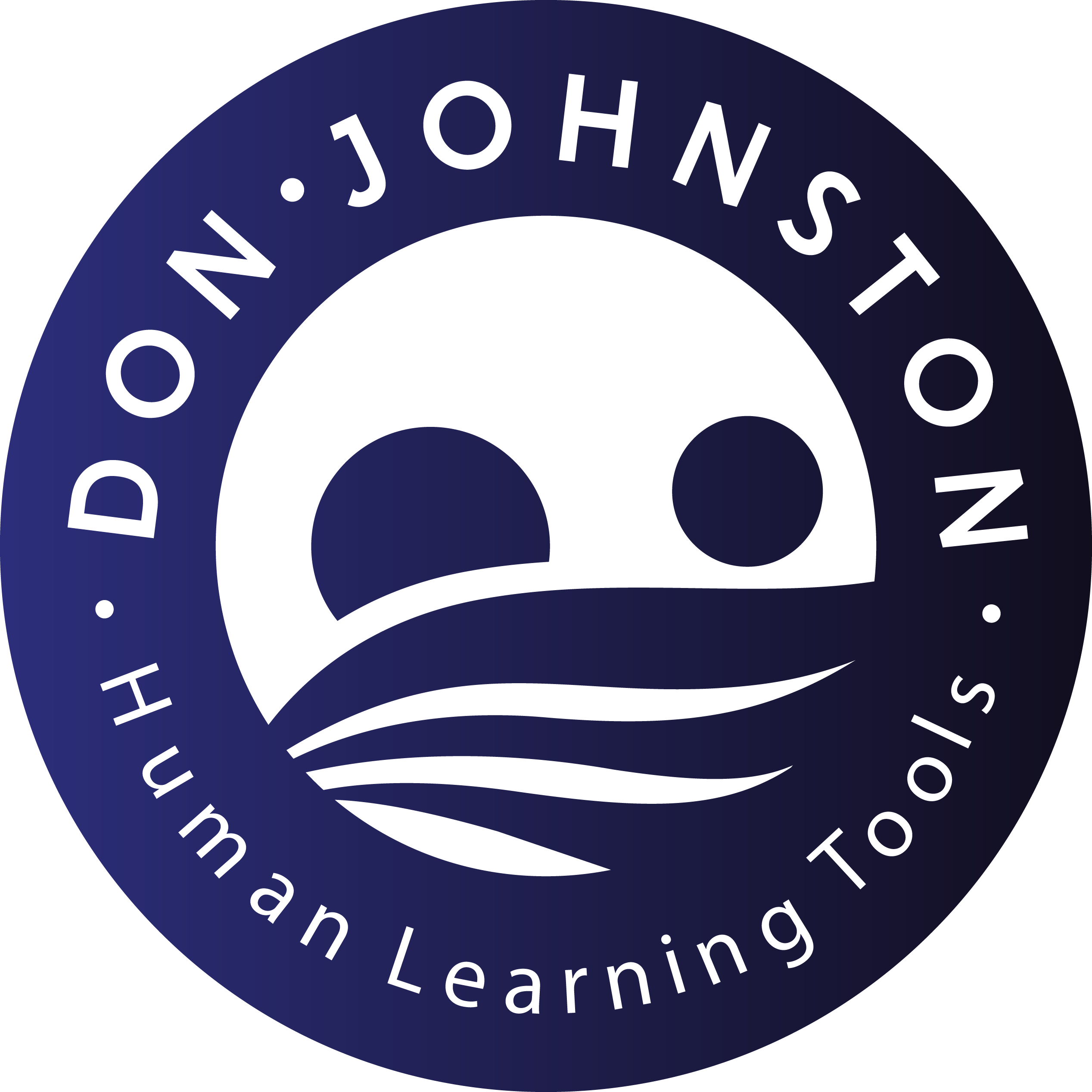 Don Johnston, Human Learning Tools logo.