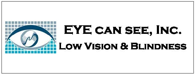 EYE can see logo. Low vision and blindness.