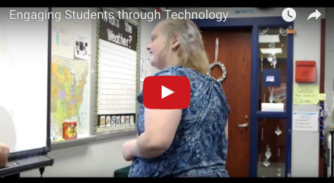 Play YouTube video of teacher interview and students using technology