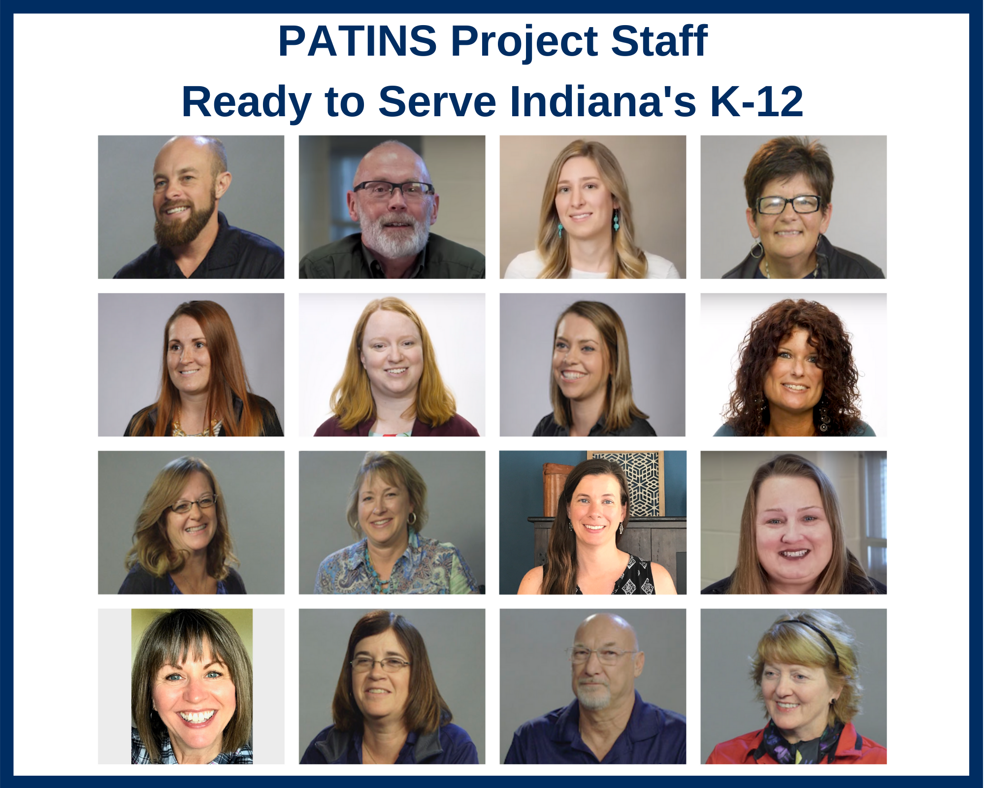 Staff Portrait Collage of the PATINS Project Staff
