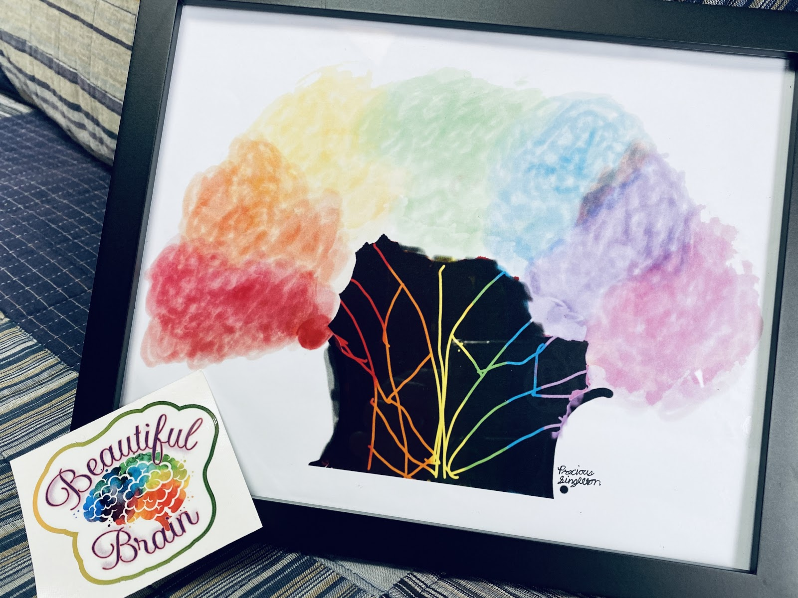 Precious's artwork of colorful tree