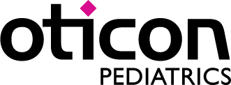Oticon pediatrics logo.