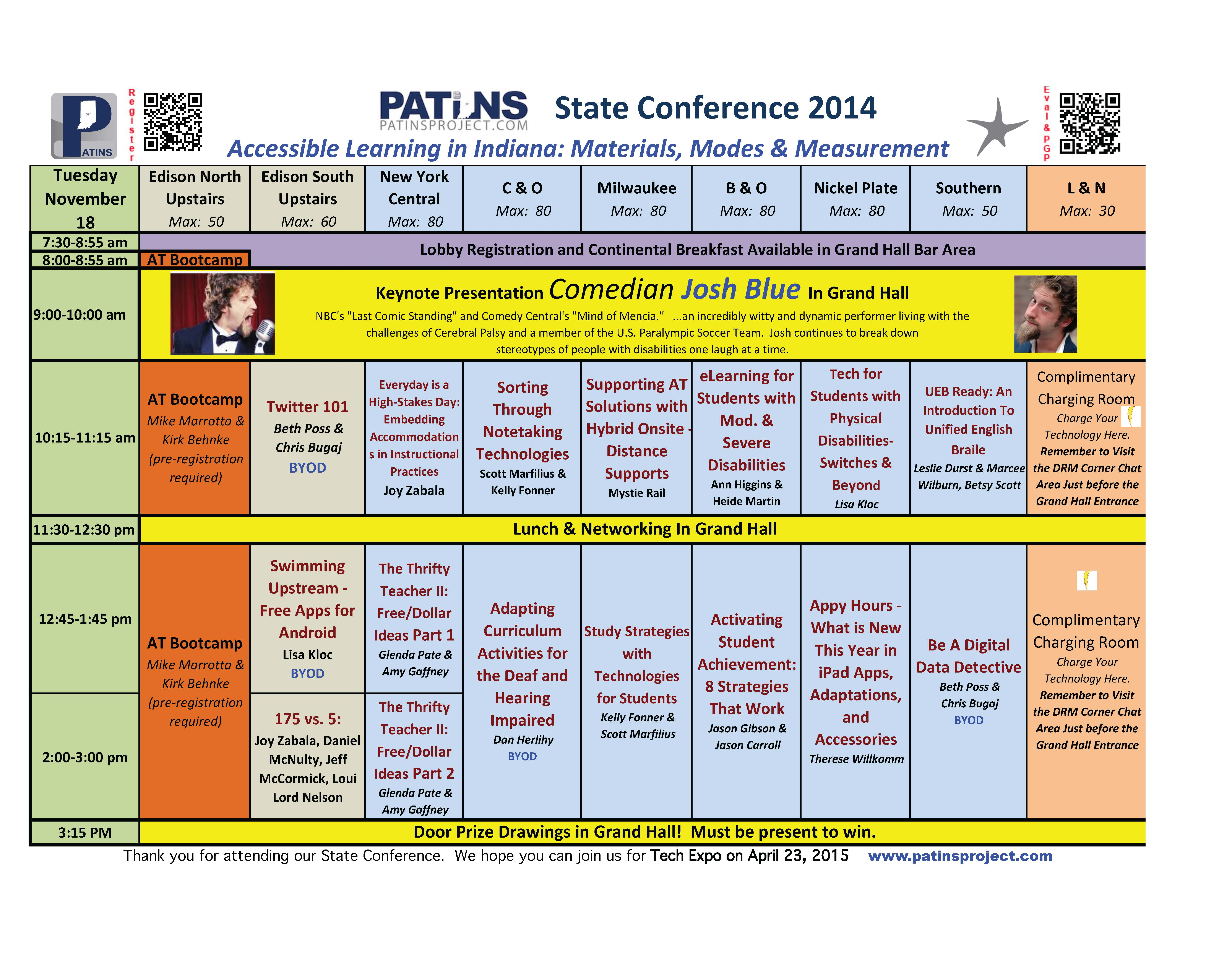 2014 State Conference Grid