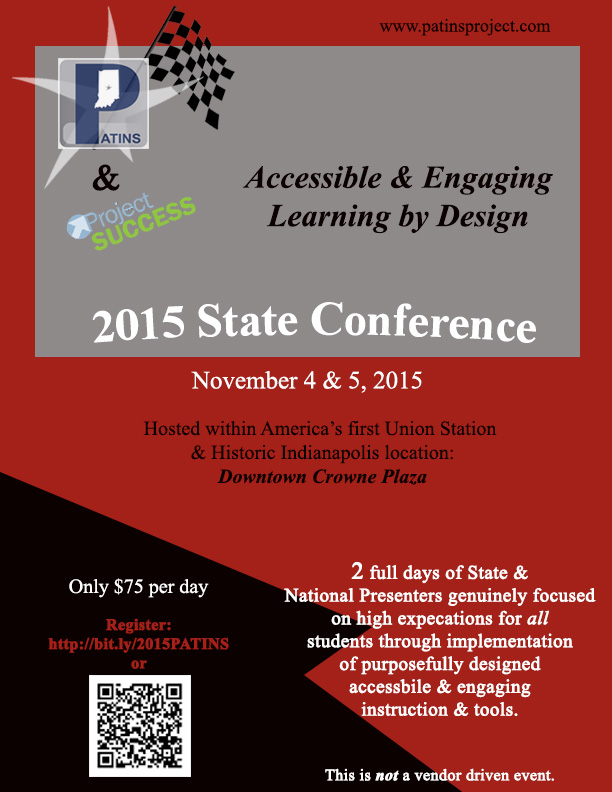 2015 PATINS State Conference Flyer