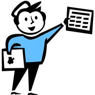 clipart of a paperboy holding a newspaper