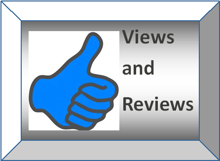 "This is a picture of Thumbs Up and the words ""Views and Reviews."""